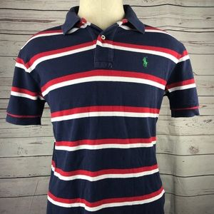Polo Ralph Lauren red/white/blue striped polo